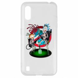 Чохол для Samsung A01/M01 Rick and Morty as Ghostbusters