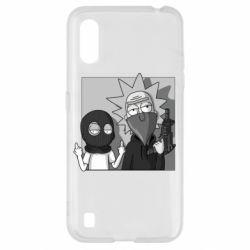 Чехол для Samsung A01/M01 Rick and Morty Bandits