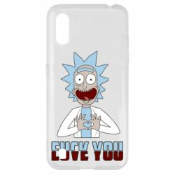 Чохол для Samsung A01/M01 Rick and Morty fack and love you