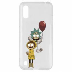 Чехол для Samsung A01/M01 Rick and Morty: It 2