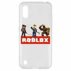 Чехол для Samsung A01/M01 Roblox Heroes