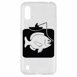Чехол для Samsung A01/M01 Рыба на крючке