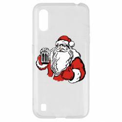 Чехол для Samsung A01/M01 Santa Claus with beer