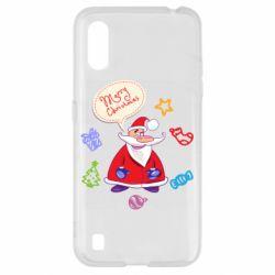 Чехол для Samsung A01/M01 Santa says merry christmas