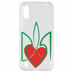 Чехол для Samsung A01/M01 Серце з гербом