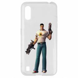 Чехол для Samsung A01/M01 Serious Sam with guns
