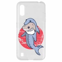 Чехол для Samsung A01/M01 Shark or dolphin