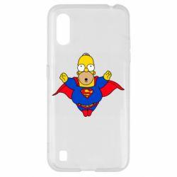 Чехол для Samsung A01/M01 Simpson superman