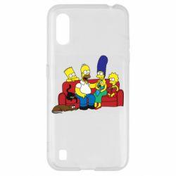 Чехол для Samsung A01/M01 Simpsons At Home