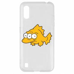 Чехол для Samsung A01/M01 Simpsons three eyed fish
