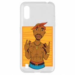 Чохол для Samsung A01/M01 Singer Tupac Shakur