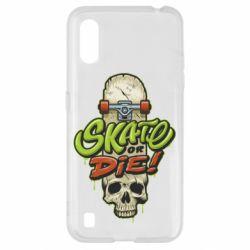 Чохол для Samsung A01/M01 Skate or die skull