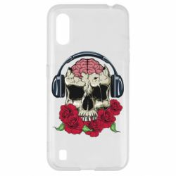 Чохол для Samsung A01/M01 Skull and roses