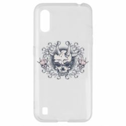 Чохол для Samsung A01/M01 Skull with horns and patterns