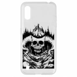 Чехол для Samsung A01/M01 Skull with horns in the forest