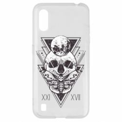 Чохол для Samsung A01/M01 Skull with insect