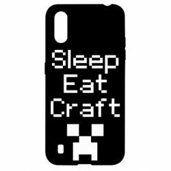 Чохол для Samsung A01/M01 Sleep,eat, craft