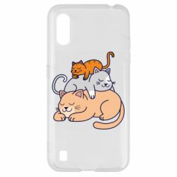 Чехол для Samsung A01/M01 Sleeping cats