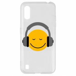Чехол для Samsung A01/M01 Smile in the headphones