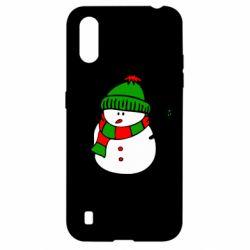 Чехол для Samsung A01/M01 Снеговик