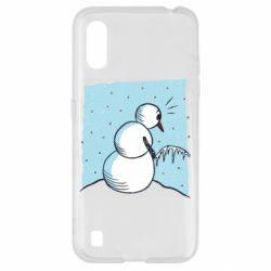 Чохол для Samsung A01/M01 Snowman. It's Cold!