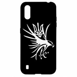 Чохол для Samsung A01/M01 Сокіл та герб України