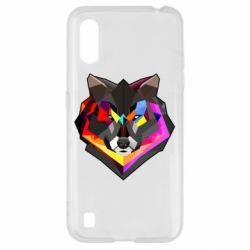 Чехол для Samsung A01/M01 Сolorful wolf