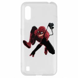 Чехол для Samsung A01/M01 Spiderman flat vector