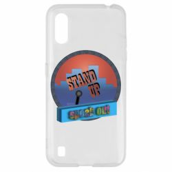 Чехол для Samsung A01/M01 Stand up, speak out