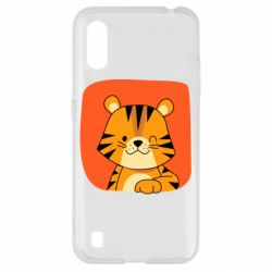 Чехол для Samsung A01/M01 Striped tiger with smile