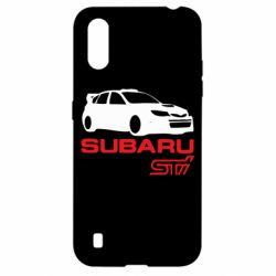 Чехол для Samsung A01/M01 Subaru STI