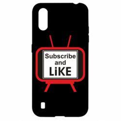 Чохол для Samsung A01/M01 Subscribe and like youtube
