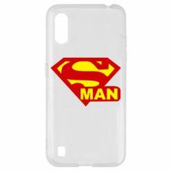 Чехол для Samsung A01/M01 Super Man