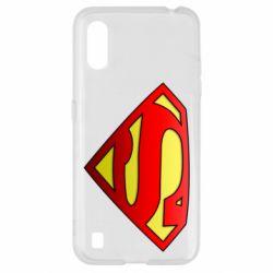 Чехол для Samsung A01/M01 Superman Logo