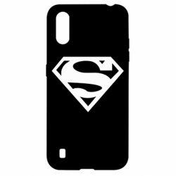 Чехол для Samsung A01/M01 Superman одноцветный