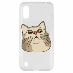 Чехол для Samsung A01/M01 Surprised cat