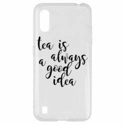 Чохол для Samsung A01/M01 Tea is always a good idea