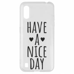 "Чохол для Samsung A01/M01 Text: ""Have a nice day"""