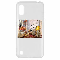Чохол для Samsung A01/M01 The atmosphere of Halloween in the house