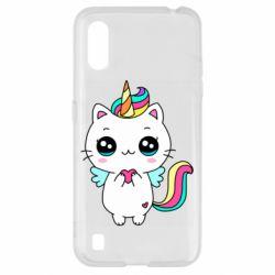 Чохол для Samsung A01/M01 The cat is unicorn