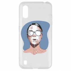 Чохол для Samsung A01/M01 The girl is doused with milk