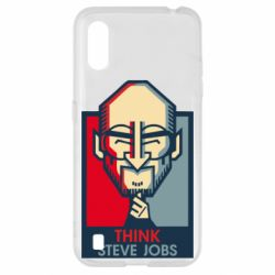Чехол для Samsung A01/M01 Think Steve Jobs