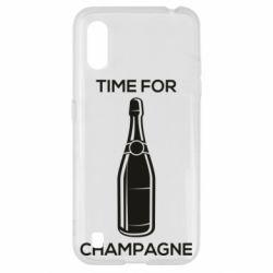 Чохол для Samsung A01/M01 Time for champagne