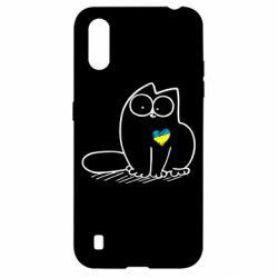 Чохол для Samsung A01/M01 Типовий український кіт