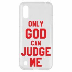 Чохол для Samsung A01/M01 Тільки Бог може судити мене