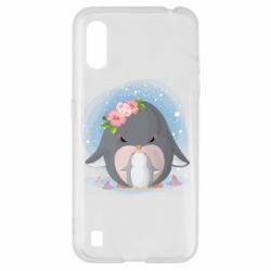 Чехол для Samsung A01/M01 Two cute penguins