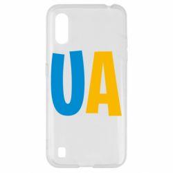 Чехол для Samsung A01/M01 UA Blue and yellow