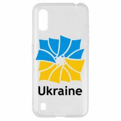 Чохол для Samsung A01/M01 Ukraine квадратний прапор