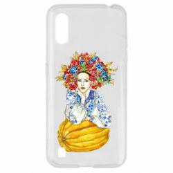 Чохол для Samsung A01/M01 Українка в вінку і вишиванці