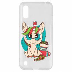Чехол для Samsung A01/M01 Unicorn Christmas